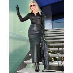 Leather skirt SSW-017 black