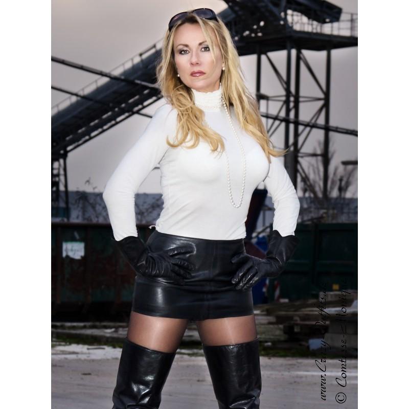 Mikro Lederrock SSW 021 : Crazy Outfits Webshop für