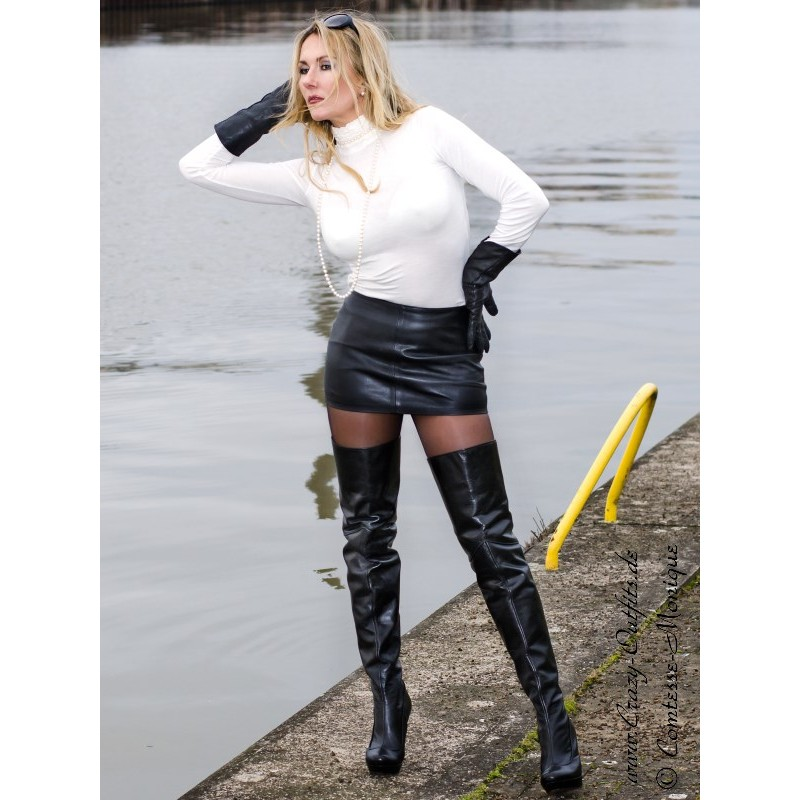 Leather Skirt SSW-021 : Crazy-Outfits