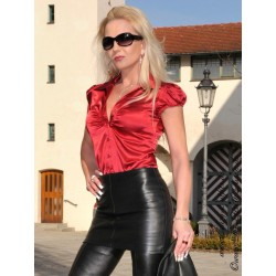 Leather skirt SSW-021HDS 36 cm black