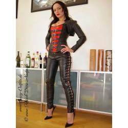 Leather trouser STW-003 black