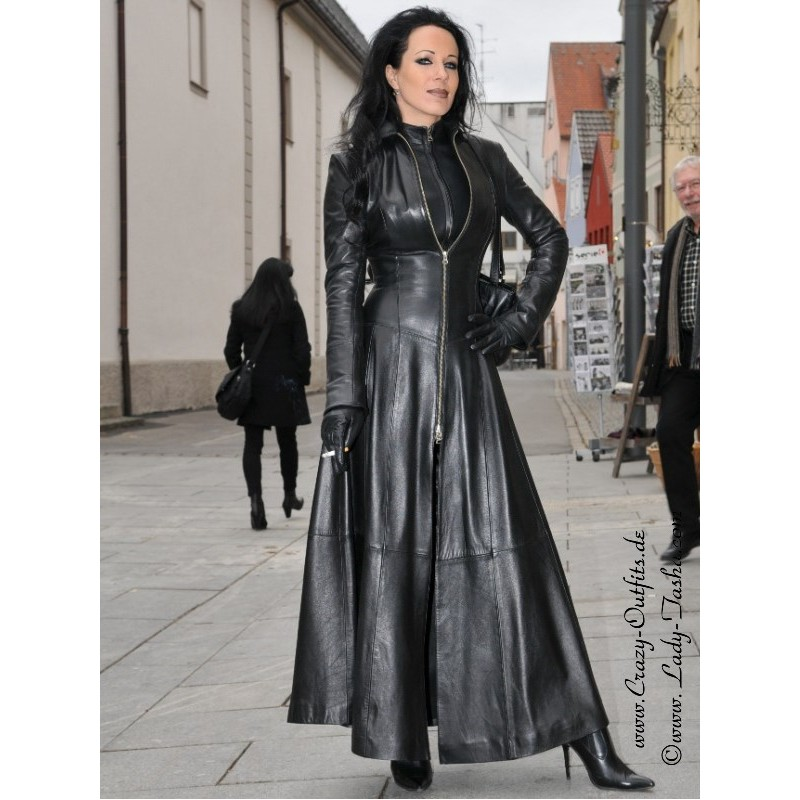 leather coat  wide 4-012   crazy-outfits