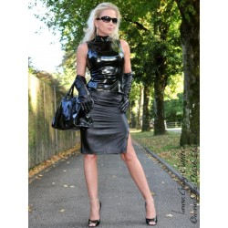 Leather skirt DS-514 black