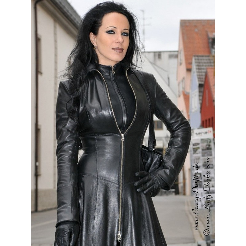 Leather Coat Wide 4 012 Crazy Outfits Webshop For
