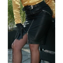 Leather skirt DS-520 black