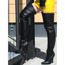 Overknee L8899 leather black