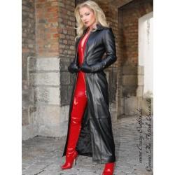 Leather coat, tight 4-012HDS black