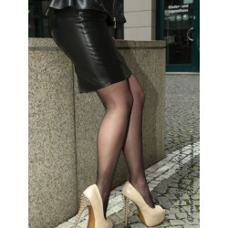 Leather skirt DS-528 black