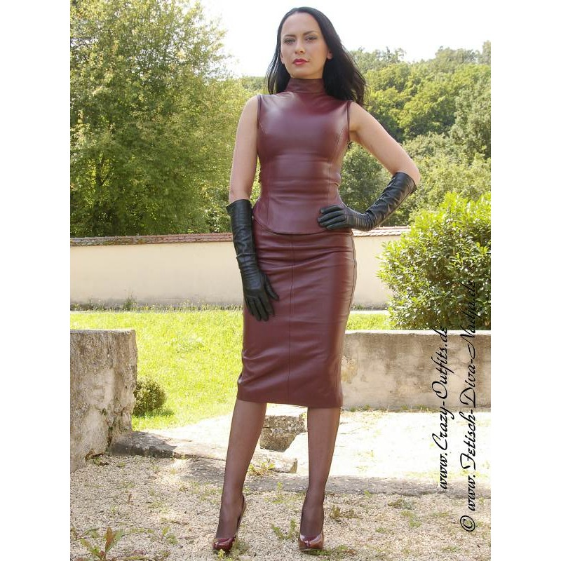Leather skirt DS-530 : Crazy-Outfits - webshop for leather
