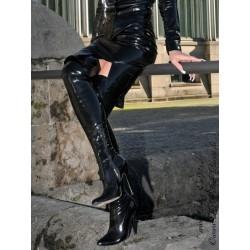 Vinyl skirt DS-050RV black