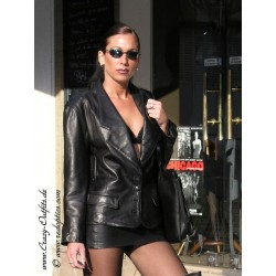Leather skirt DS-532 black