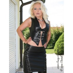 Leather skirt DS-534 black