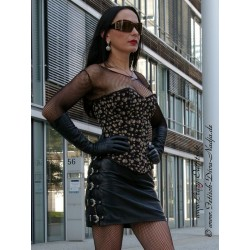 Leather skirt DS-536 black