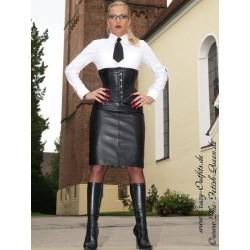 Leather skirt DS-540 black