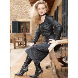 Leather set 4-011 black