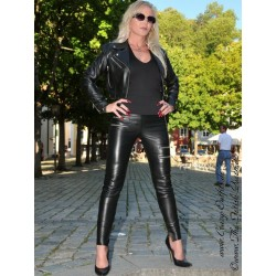 Leather trouser DS-420 black