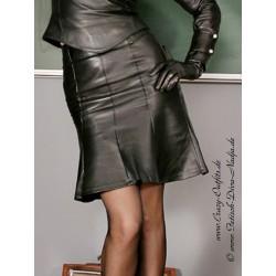 Leather skirt DS-542 black
