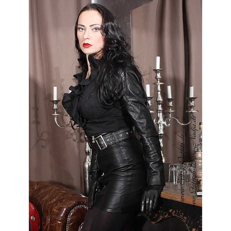 Leather skirt with belt DS-544 : Crazy-Outfits - webshop for ...