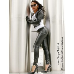 Leather trouser DS-422 black