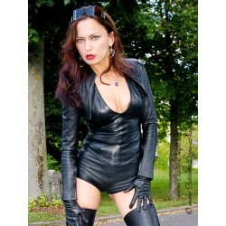 Leather hotpants DS-424 black