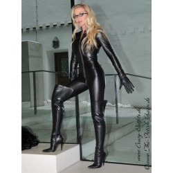 Leather catsuit 4-019 black