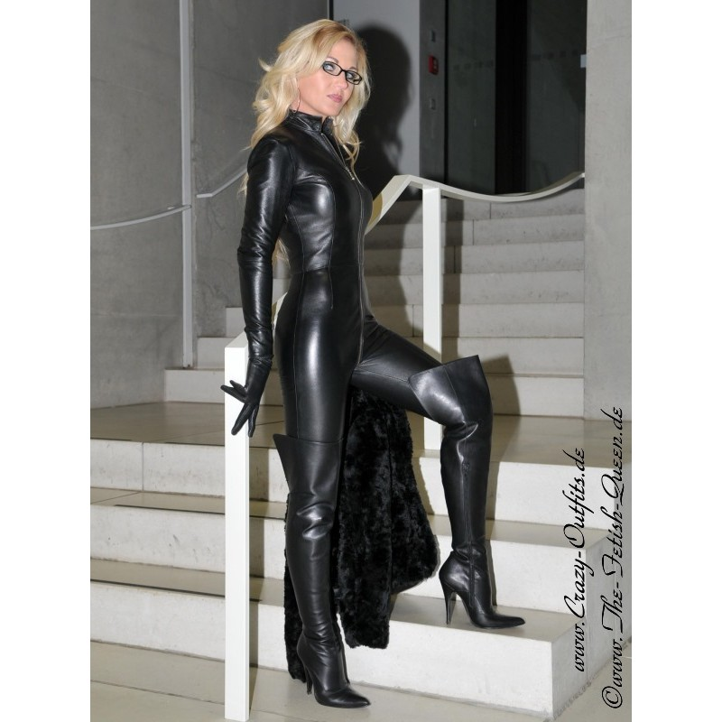 Custom Leather Catsuit - Porn Pics  Moveis-5845