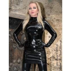 Vinyl skirt DS-103V black