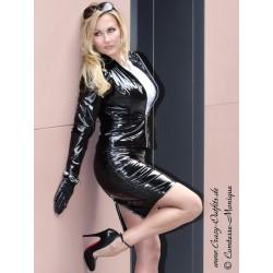 Vinyl skirt DS-528V black