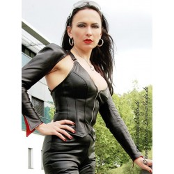 Leather top DS-324 black