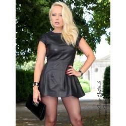 Leather dress DS-146 black
