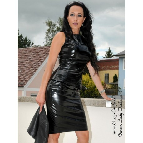 Vinyl skirt DS-504V black