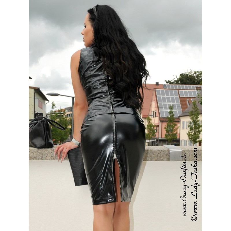 Vinyl skirt DS-504V  Crazy-Outfits - webshop for leather clothing shoes and more.