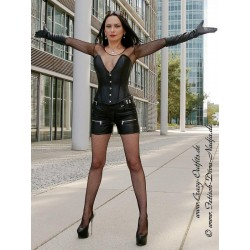 Leather shorts DS-426 black