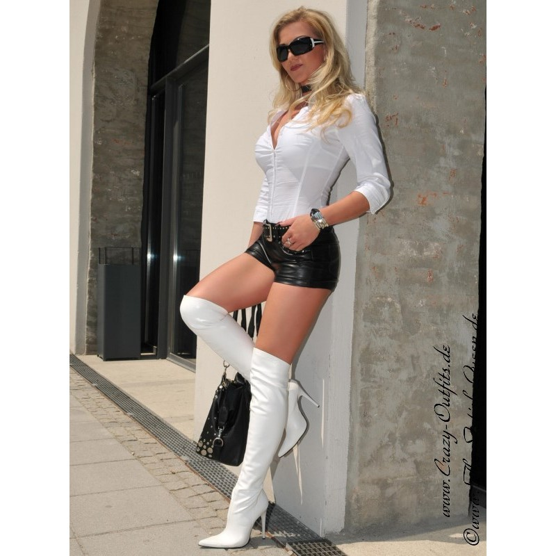 Leather hotpants DS-428  Crazy-Outfits - webshop for leather clothing shoes and more.