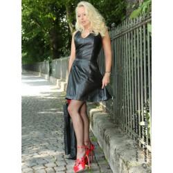 Leather dress DS-150 black