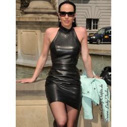 Leather dress DS-154 black