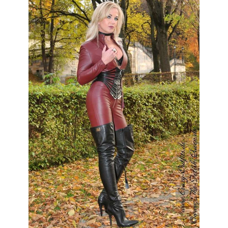 Leather Catsuit Short Zipper 4 019k Crazy Outfits
