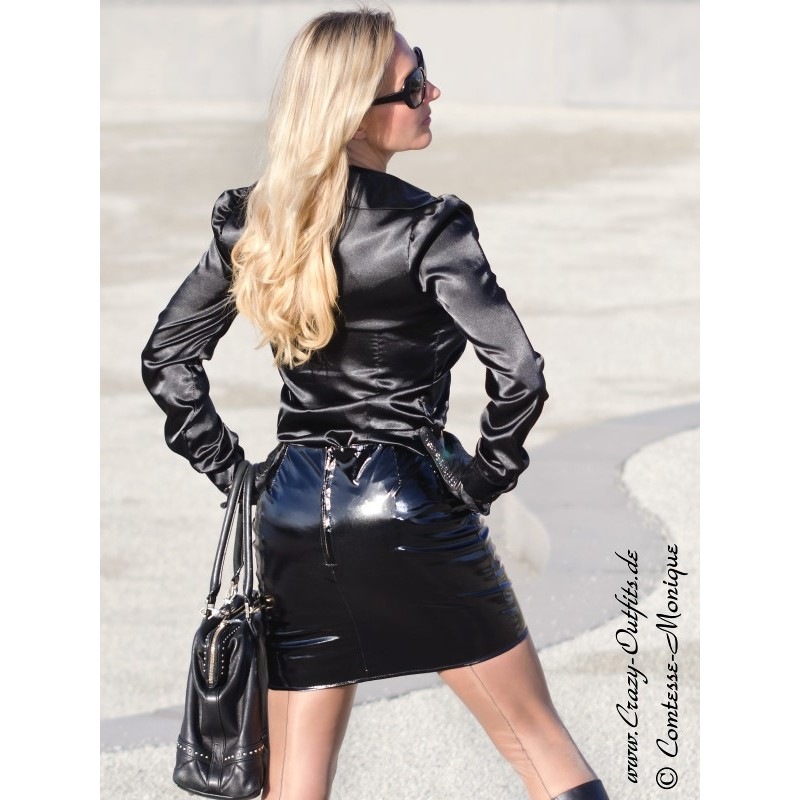 Vinyl skirt DS-101V  Crazy-Outfits - webshop for leather clothing shoes and more.