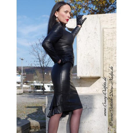 Leather skirt DS-548 black