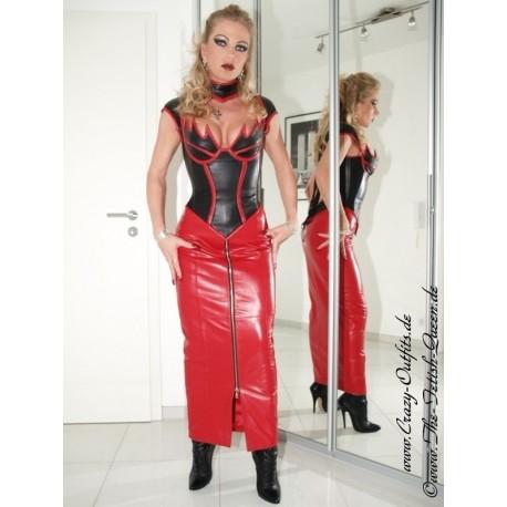 Lederkostüm 4-020 Schwarz/Rot