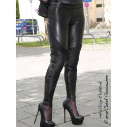 Leather trouser DS-430 black