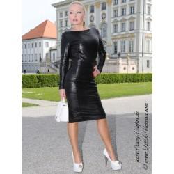 Leather dress DS-158 black