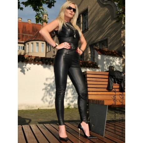 Leather trouser DS-434 black
