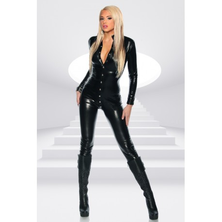 Wetlook-Overall 12722 Schwarz