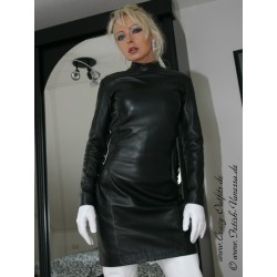 Leather dress 4-022 black