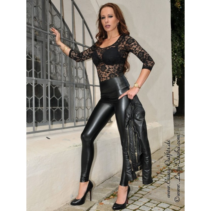 Faux leather leggings Razer : Crazy-Outfits