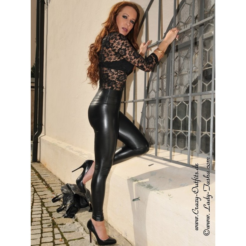 Faux Leather Leggings Razer Crazy Outfits Webshop For