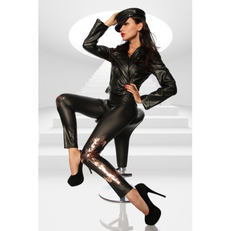 Wetlook-leggings 12603 black/gold