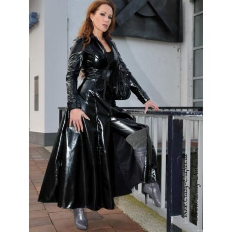 Vinyl coat, wide 4-012V black