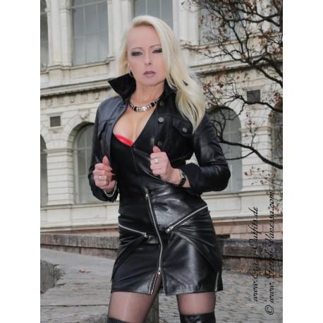 Leather skirt DS-554 black